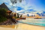 Café am tropischen Strand - Seychellen