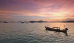 Sonnenuntergang am Strand - Thailand